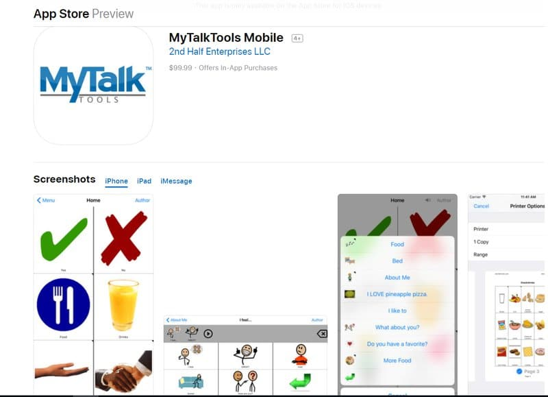 mytalktools mobile app for students