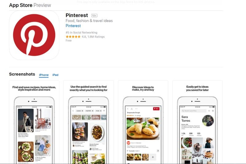 pinterest app for students