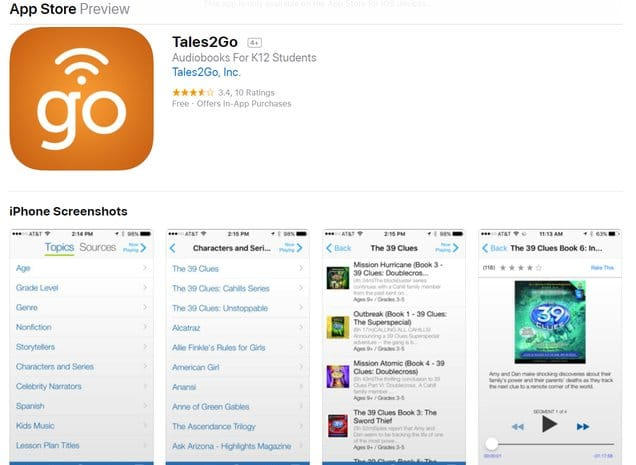 tales2go app for students