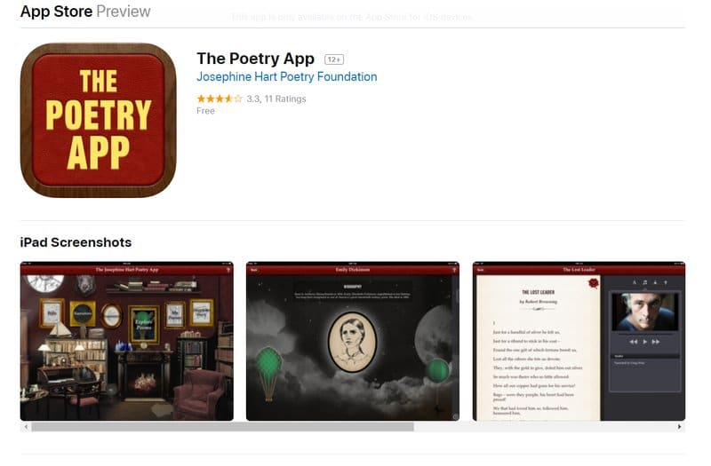 the poetry app for students
